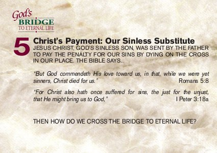 Christ's payment: our sinless substitute
