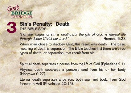 Sin's penalty: death